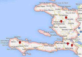 map of haitian coffee