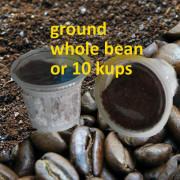 medium dark ground bean kups