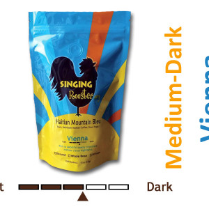 medium dark Haitian coffee, vienna