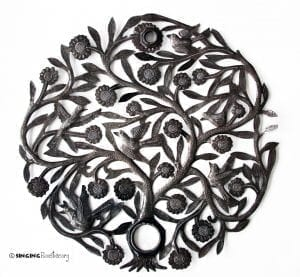 Haitian metal wall art tree of life
