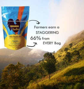 Haitian coffee farmers win when you use Singing Rooster's fundraising program.