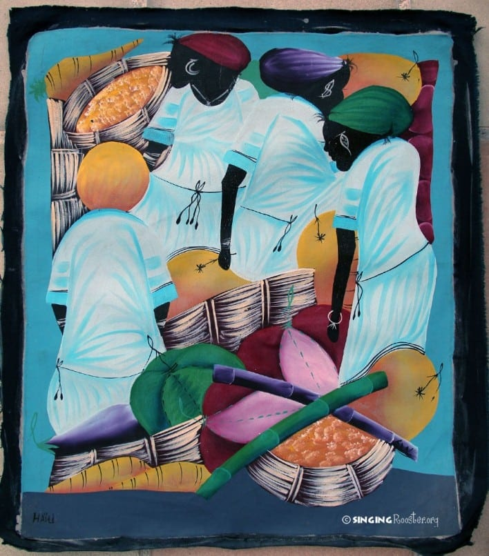 Haitian Painting, Market Day