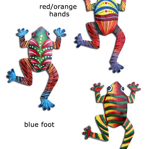 Haitian metal wall art frogs