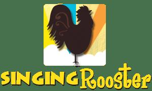 Singing Rooster Haiti coffee chocolate art