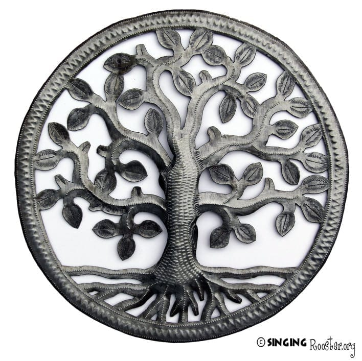 "12"" Tree of Life - Metal Wall Art, Haiti"