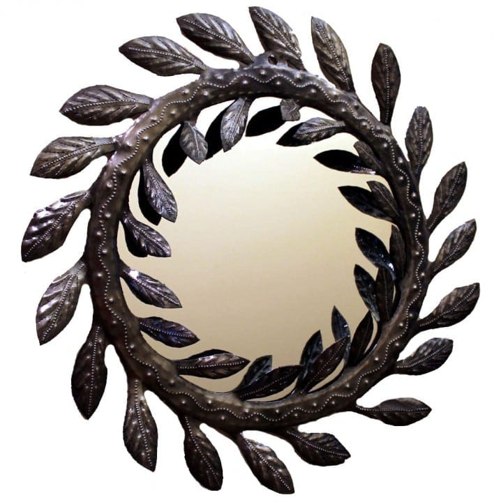 Metal Vine Wall Mirror, Haiti