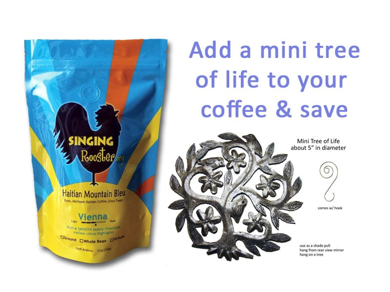 Mini tree of life with coffee