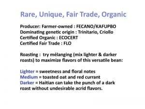 Roasting Haitian cacao