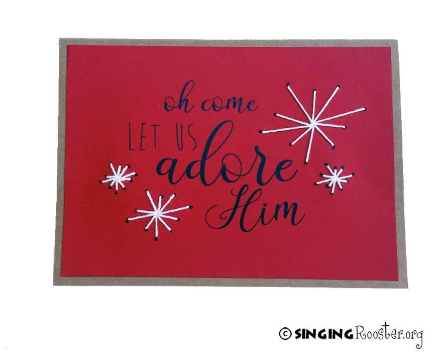 adore him christmas card haiti