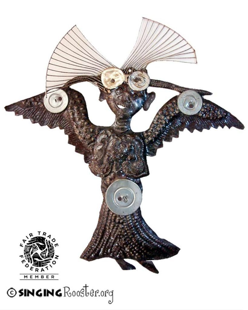 angel metal wall sculpture