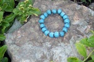 blue ceramic bracelet
