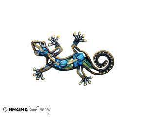 blue hibiscus gecko