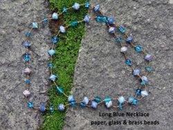 blue necklace glass