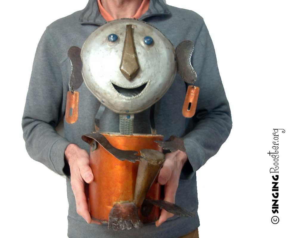 paint bucket upcycled art