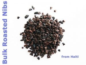 bulk roasted cacao nibs from Haiti