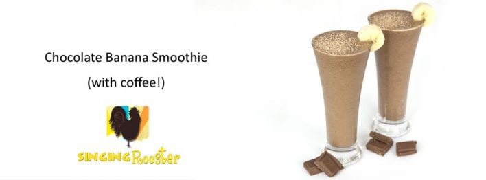 coffee chocolate banana smoothie