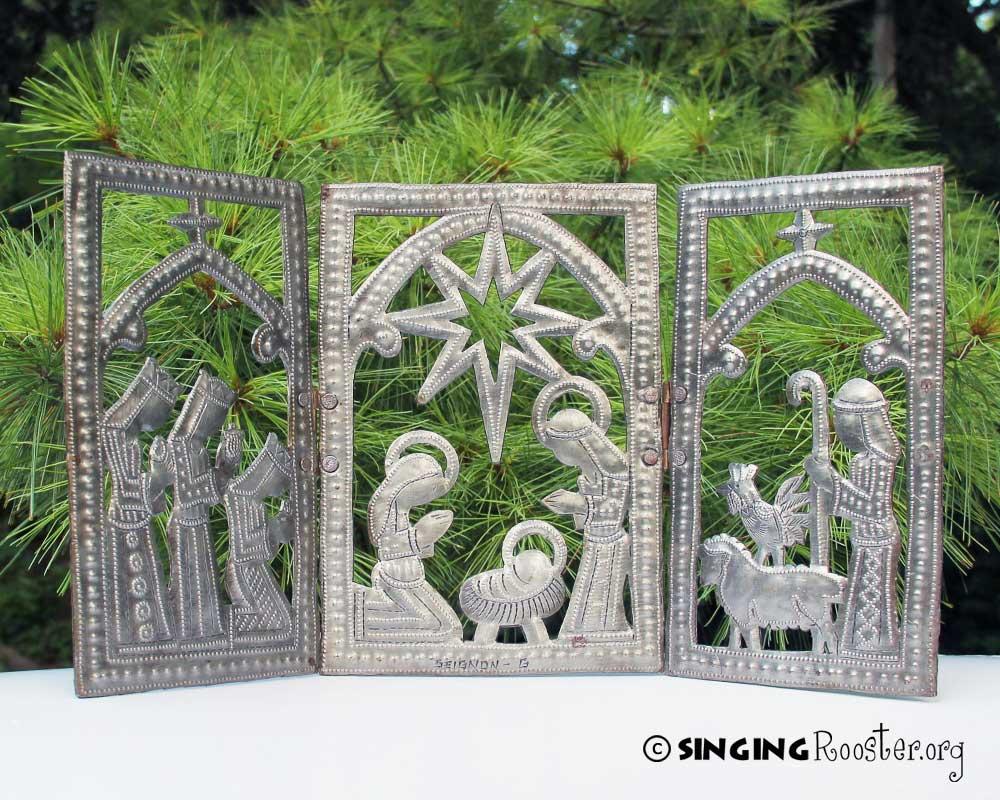 christmas nativity gift, Haitian art