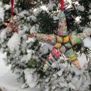 christmas star snow