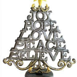 christmas tree word art sculpture