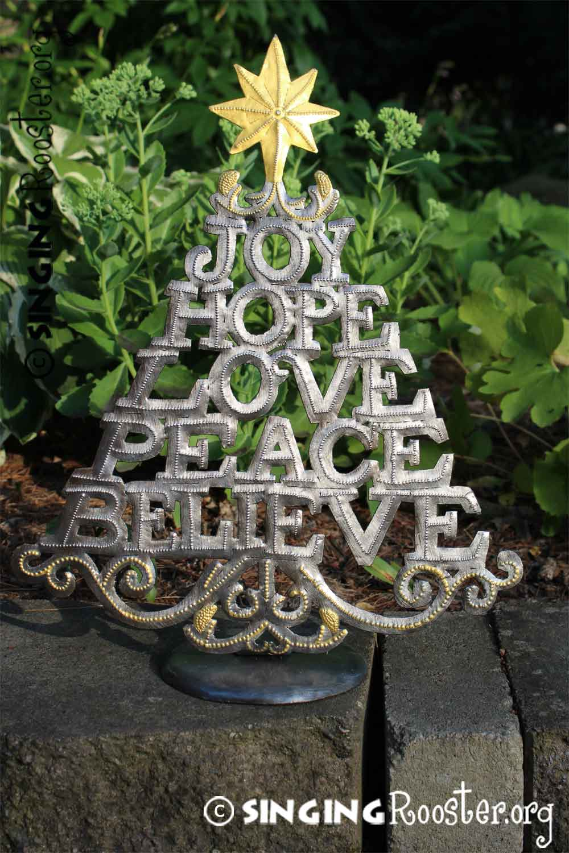 Christmas Tree Joy Hope Believe