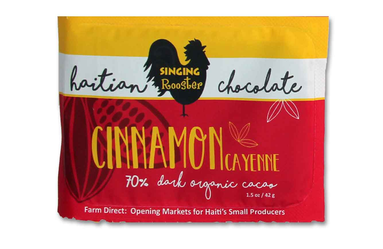 Cinnamon Haitian Chocolate Bar, Singing Rooster