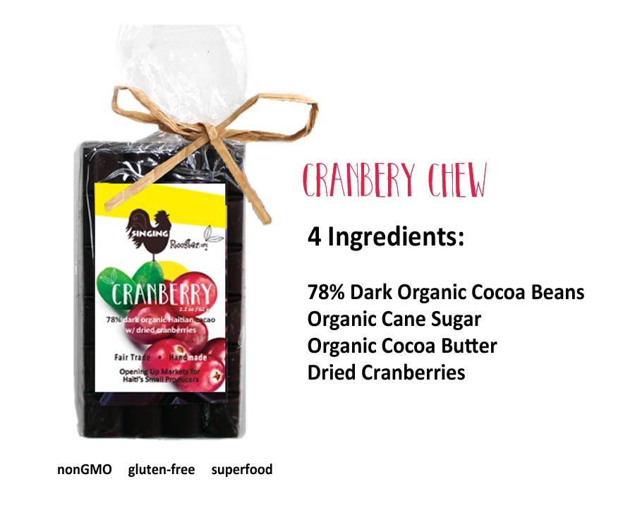 cranberry chocolate bar, haiti