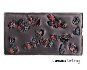cranberry chocolate bar, haiti