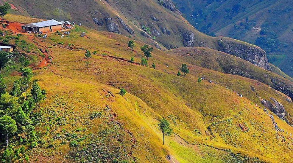 deforested mountains, Haiti