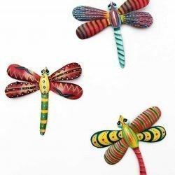 dragonfly metal wall art, handmade Haiti