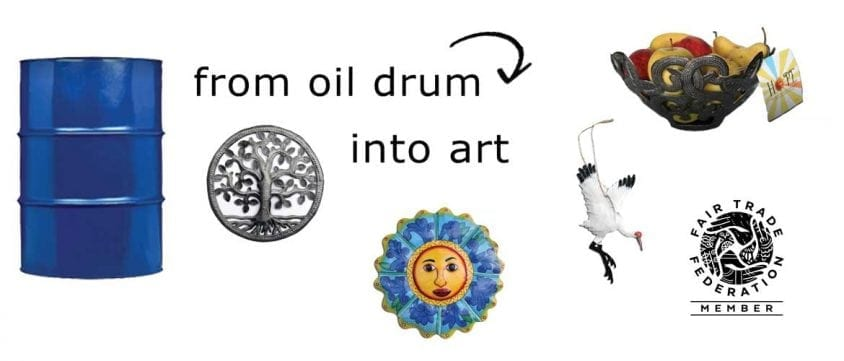 make art from oil drum