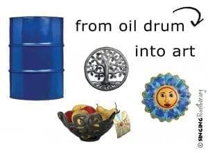 turn oil drum into art
