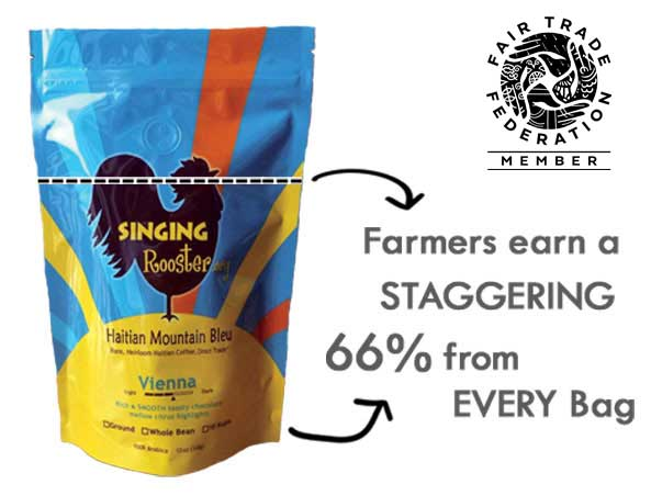 Fair Trade Haitian coffee, Singing Rooster