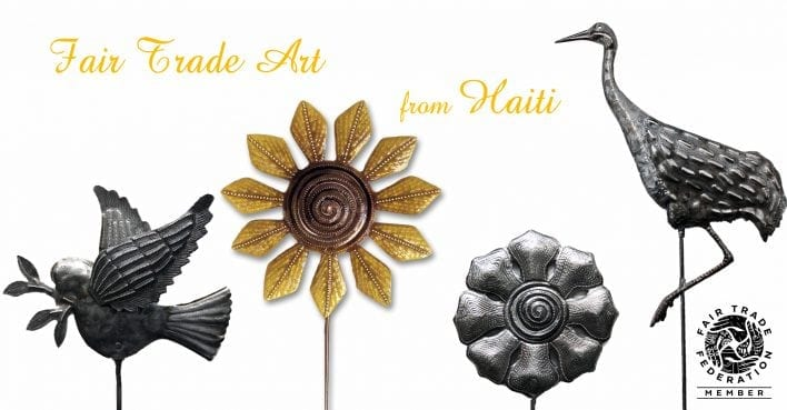 Wholesale Haitian Art for Gift & Garden Stores SingingRooster.org