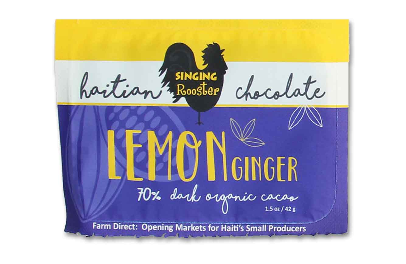 Haiti Lemon Ginger Chocolate Bar, Singing Rooster
