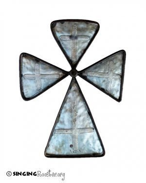 greek metal cross