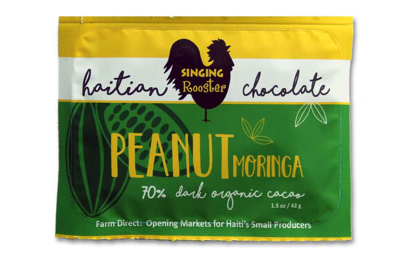 Haiti Peanut Moringa Chocolate Bar, Singing Rooster