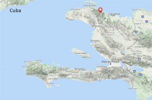map of Haiti, cacao
