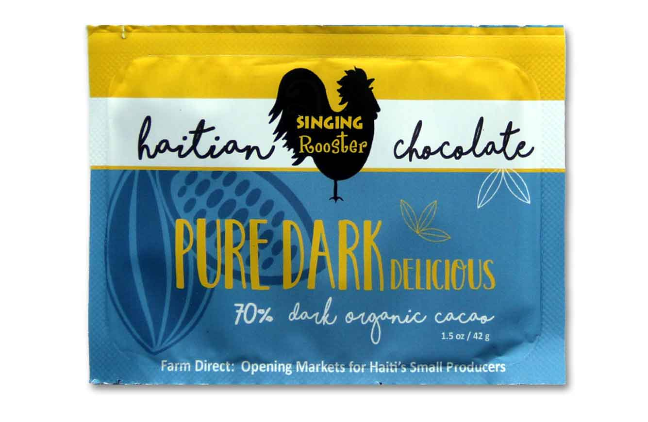 Plain Haitian Chocolate Bar, Singing Rooster