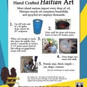 how is Haitian art made
