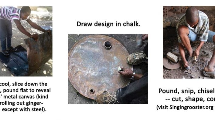 how oil drum art made