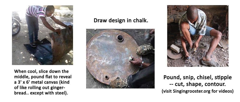 how oil drum art is make