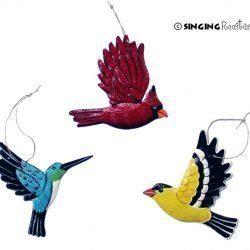 humming bird cardinal ornament
