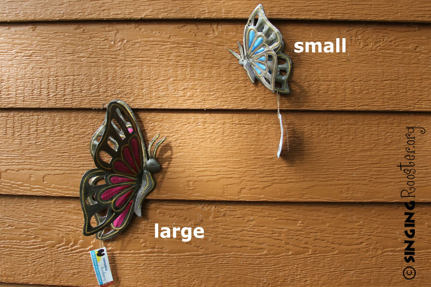large metal butterfly garden art fair trade haiti. Black Bedroom Furniture Sets. Home Design Ideas
