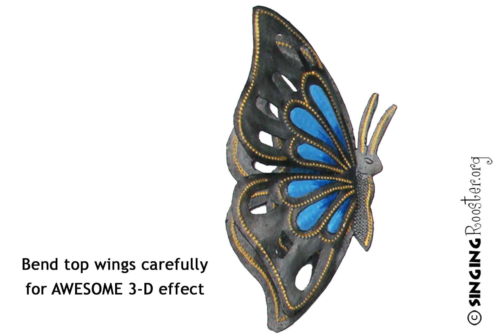 dd37746d01e Large Metal Butterfly Garden Art