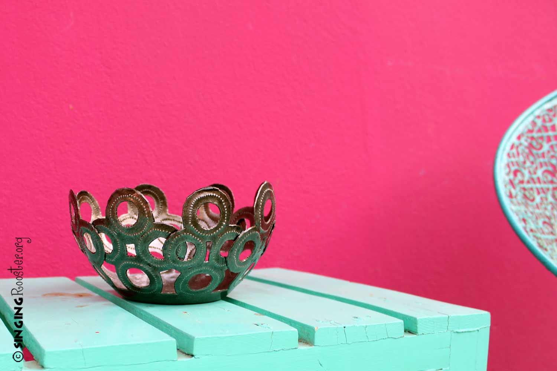 circle bowl, handmade Haiti