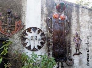 metal oil drum art haiti
