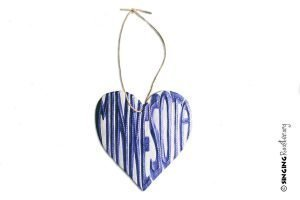 Minnesota heart ornament