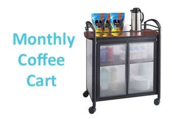 monthly coffee cart