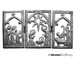 christmas manger scene gift, Haitian art