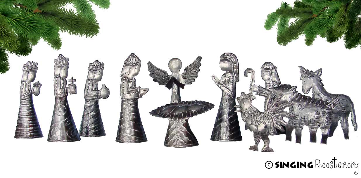 metal nativity haiti